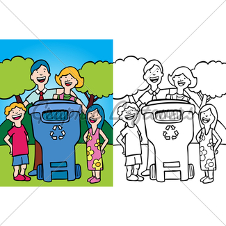 325x325 Family Recycling Gl Stock Images