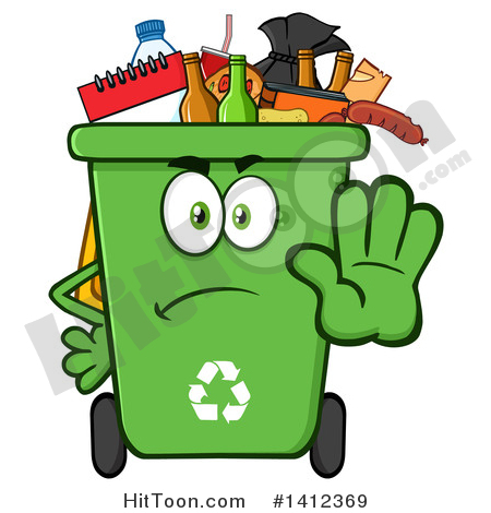 450x470 Green Recycle Bin Clipart
