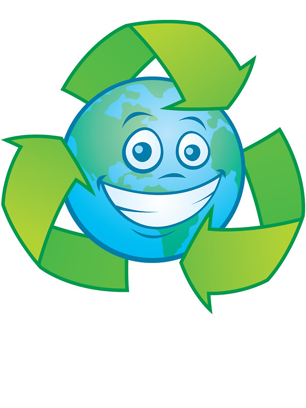 600x800 Planet Earth Recycle Cartoon Character Stickers By Fizzgig