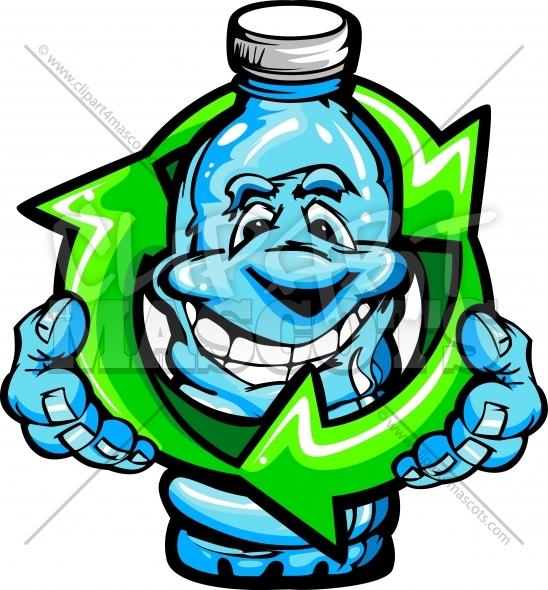 548x590 Recycle Bottle Cartoon Graphic Vector Cartoon