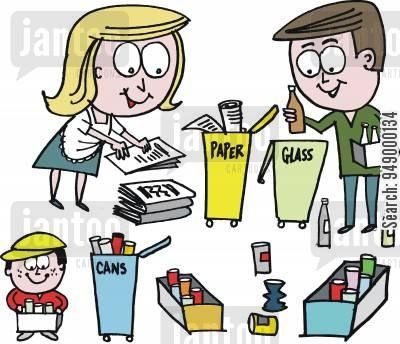 400x344 Recycling Bins Cartoons