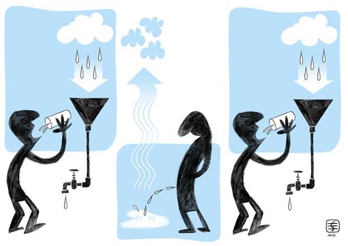 500x353 Recycling Water By Serralheiro Politics Cartoon Toonpool