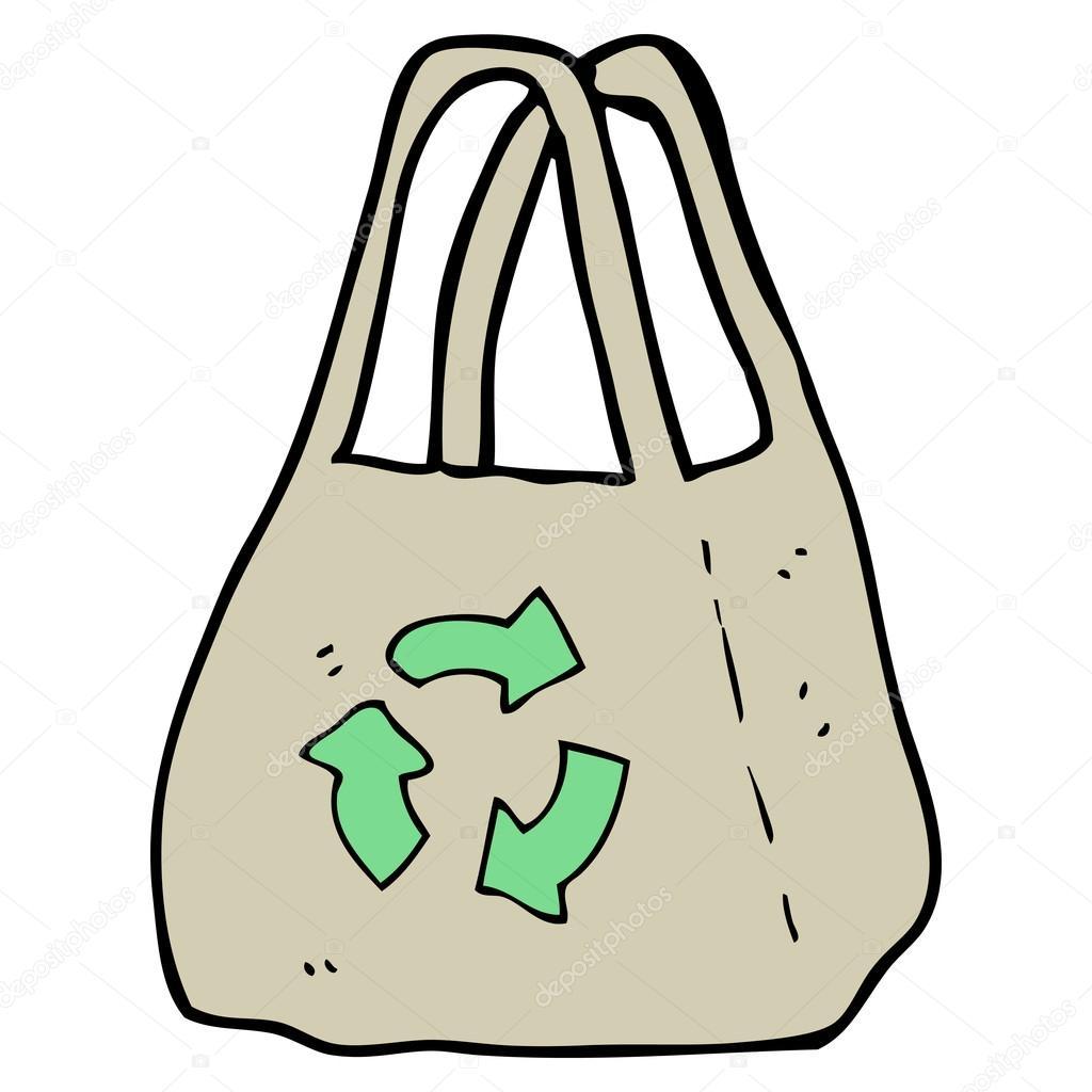 1024x1024 Bag With Recycling Logo Cartoon Stock Vector Lineartestpilot