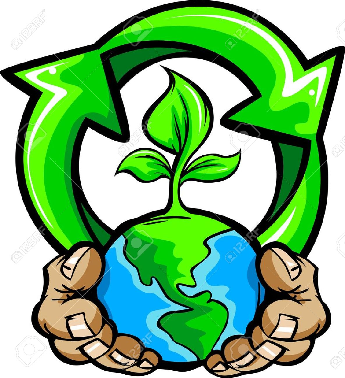 1185x1300 Cartoon Image Of A Hands Holding Planet Earth With A Green Plant