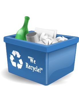 276x298 Recycling Box 3d Clip Art