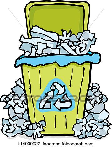 357x470 Clipart Of Recycling Trash Paper Bin K14000922