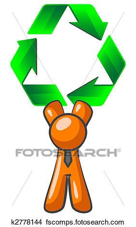 282x470 Drawings Of Orange Man Recycling K2778144