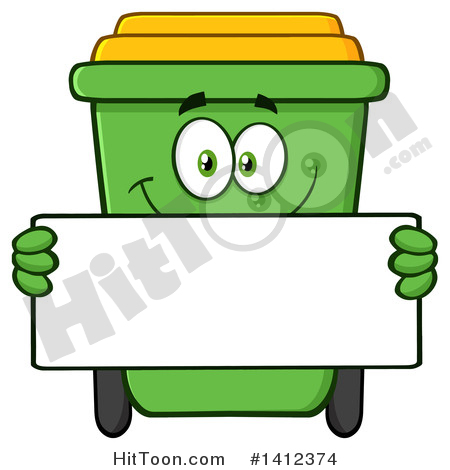 450x470 Green Recycle Cans Clipart