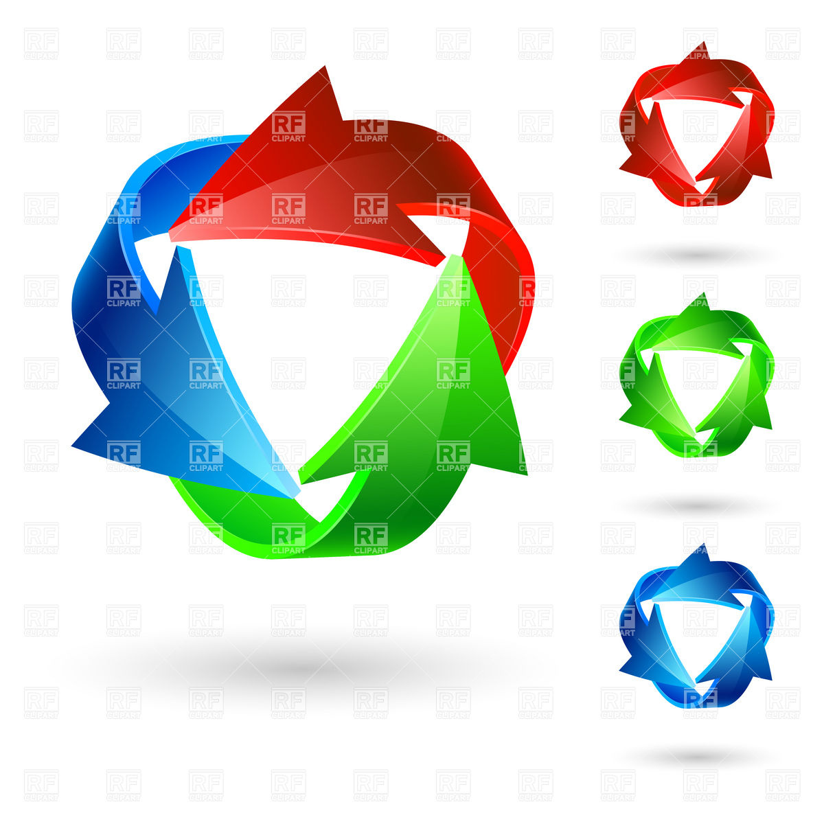 1200x1200 Rgb Recycling Arrow Icon Royalty Free Vector Clip Art Image