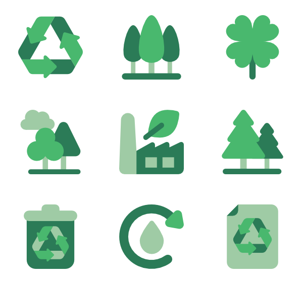 600x564 Recycling Icons