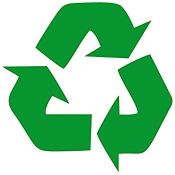 350x350 Recycle Symbol Green 5 Vinyl Decal Sticker Automotive