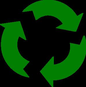 297x300 Green Arrows Recycle Clip Art