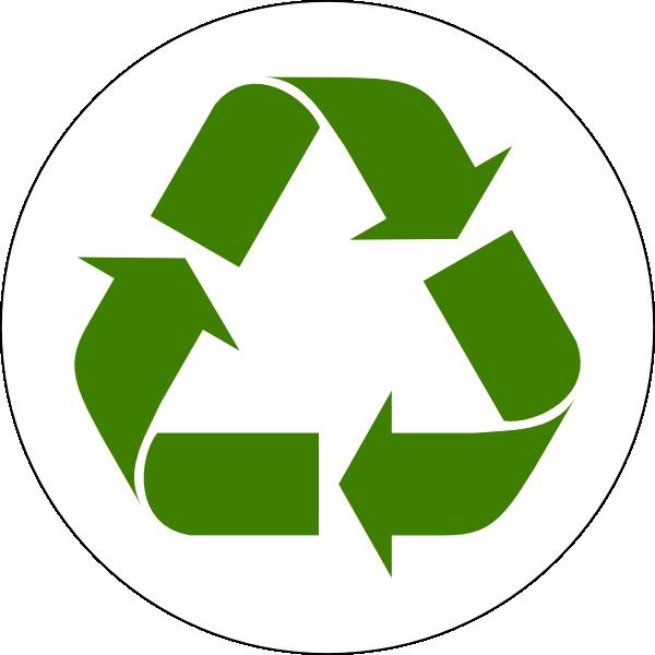600x600 Green Recycled Symbol Clip Art