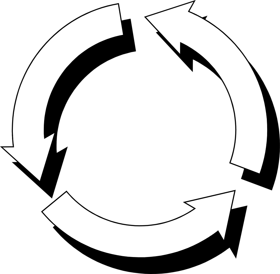 958x936 Recycle Free Stock Photo Illustration Of Circular Arrows
