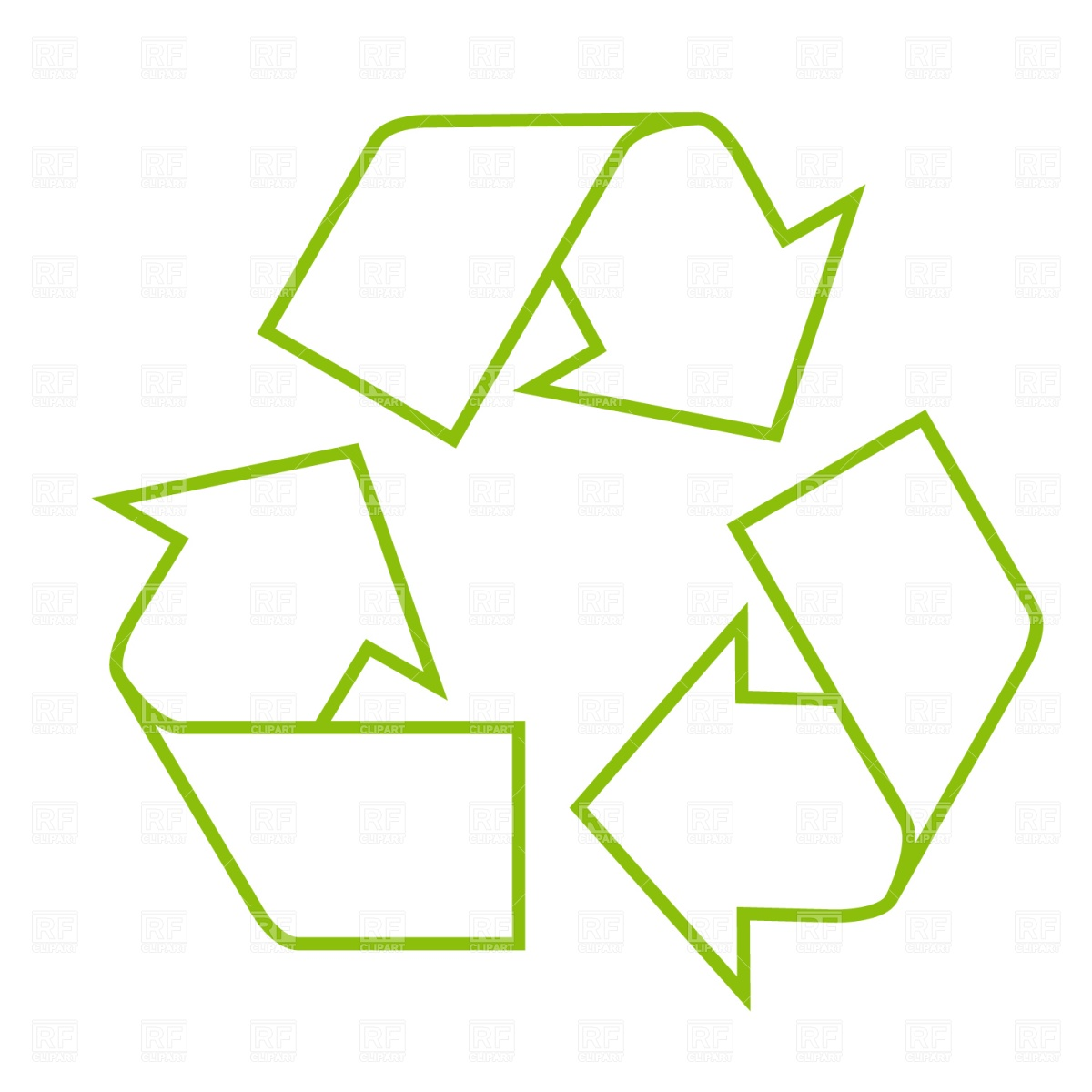 1200x1200 Recycle Icon Royalty Free Vector Clip Art Image