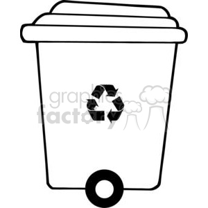 300x300 Royalty Free Recycle Trash Can 379660 Vector Clip Art Image