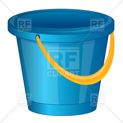 400x400 Blue Pail Made From Plastic Royalty Free Vector Clip Art Image