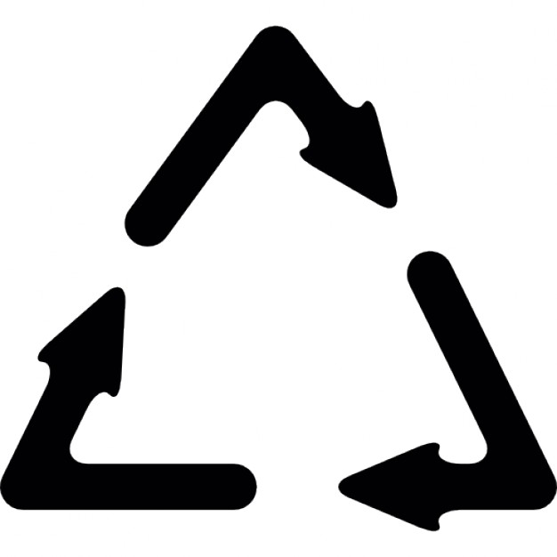 626x626 Recycle Symbol With Three Arrows Icons Free Download