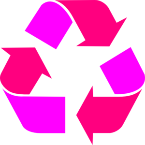 300x300 Two Tone Pink Recycle Symbol Clip Art