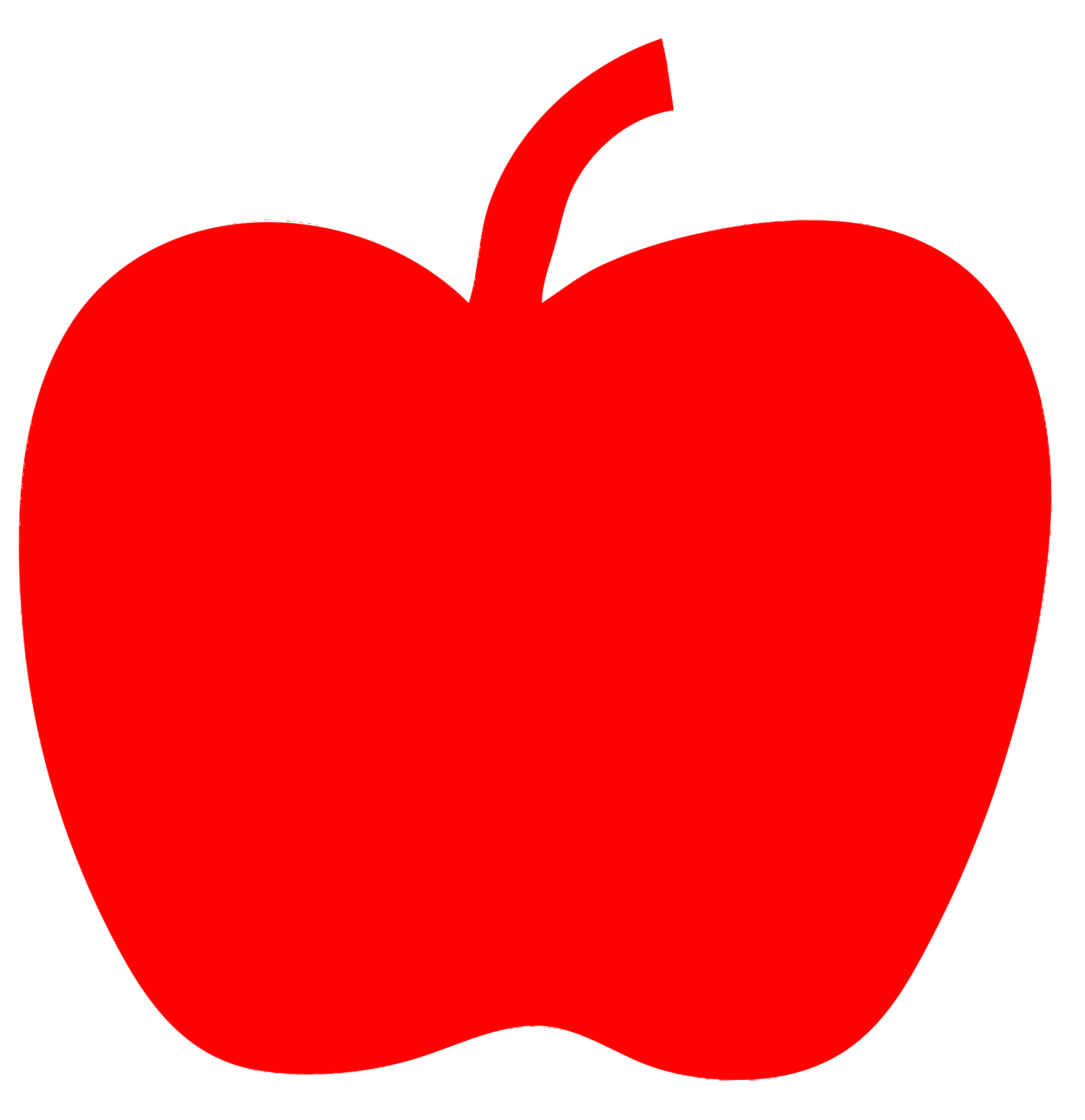 2324x2400 Clipart Red Apple 2