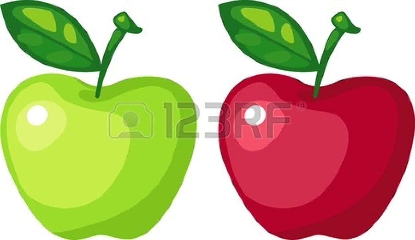1350x780 Green Clipart Red Apple