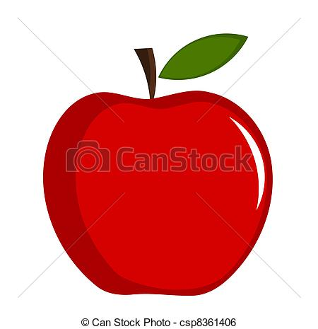 450x465 Red Apple Clip Art