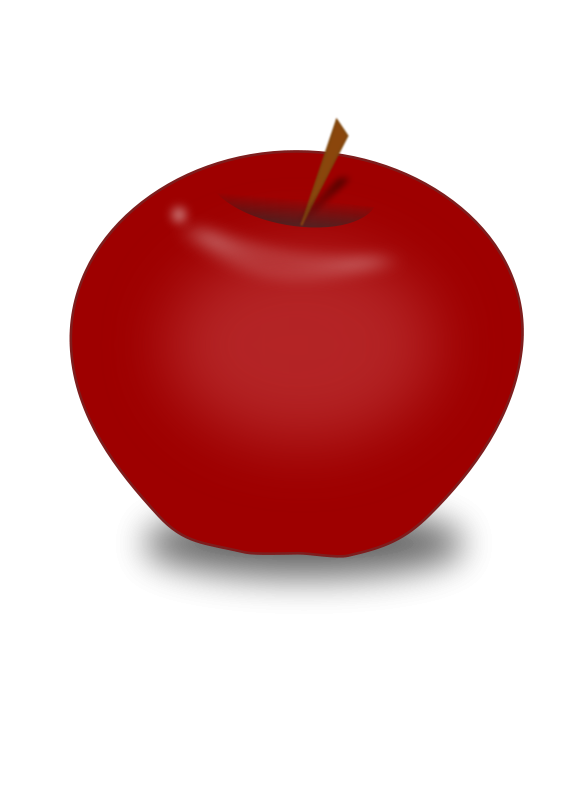 566x800 Red Apple Clip Art Download