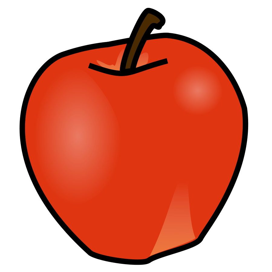 900x900 Red Apple Clip Art Vector Clip Art Online