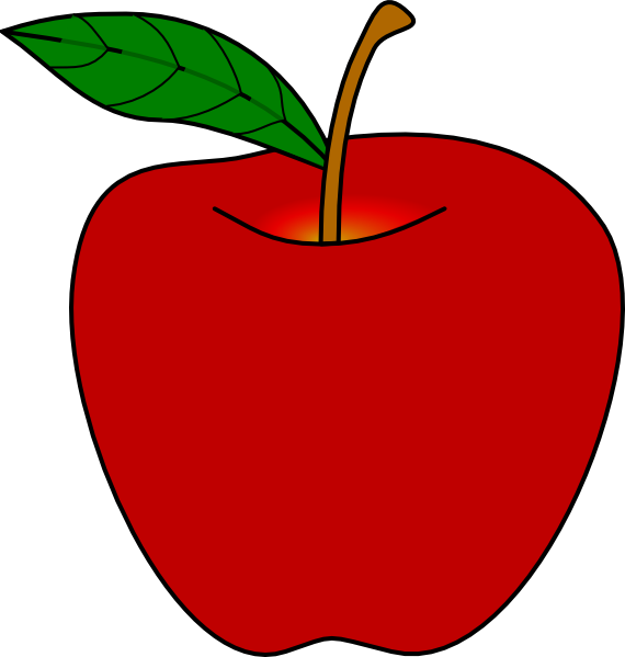 570x599 Red Apple Clip Art