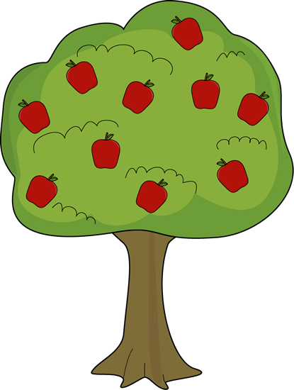 415x550 Red Apple Tree Clip Art