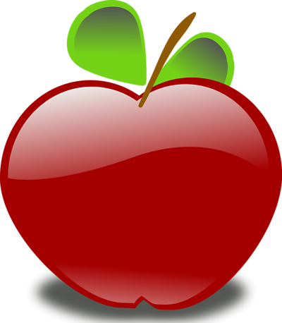 400x458 Red Apple Clip Art