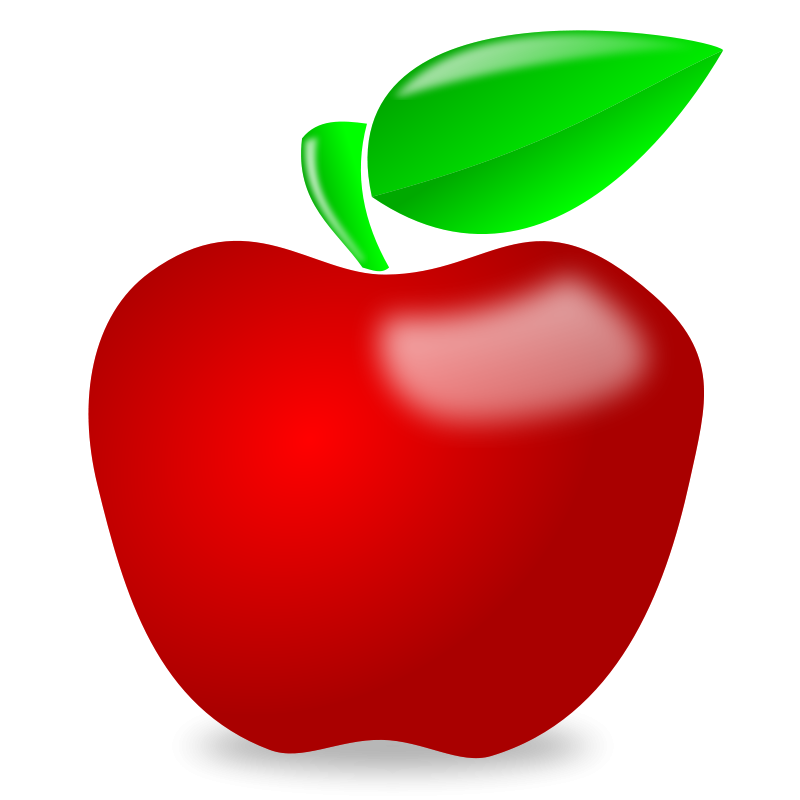800x800 Red Apple Clip Art 2