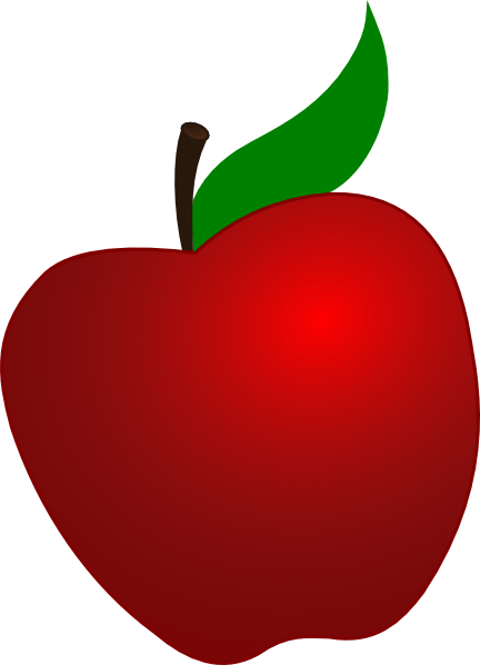 432x598 Red Apple Clip Art Clipart