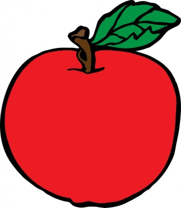 370x425 Red apple clipart free images 5