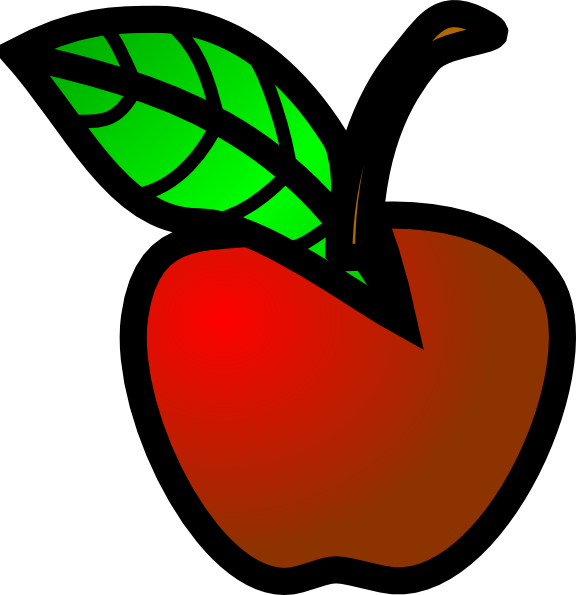 576x595 Small Red Apple Clipart