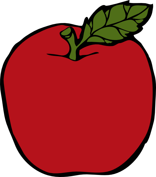 522x593 This Free Red Apple Clip Art Clipart Panda