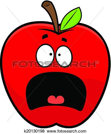 389x470 Apple Clipart Scared