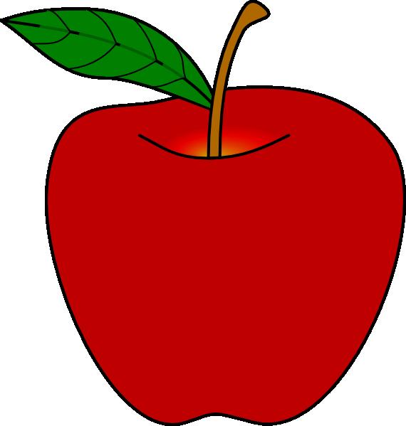 570x599 Dark Red Apple Clipart