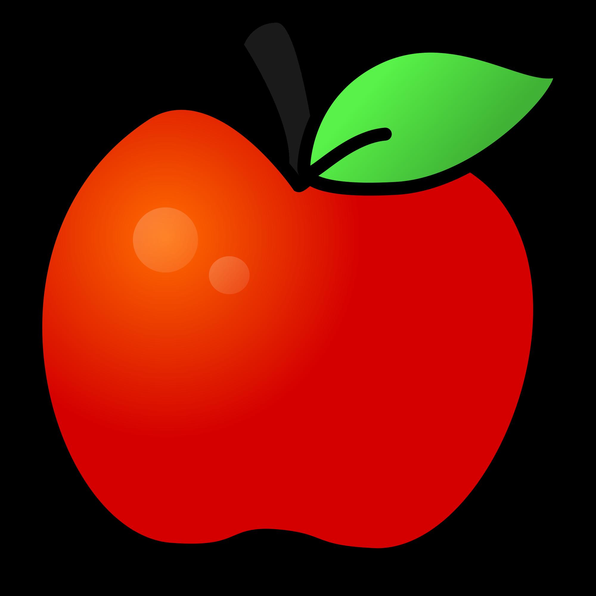 2000x2000 Filered Apple With Leaf.svg