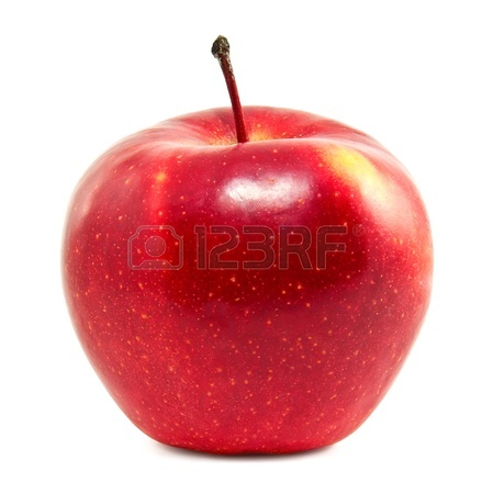 449x450 Fresh Red Apple On A White Background Stock Photo, Picture