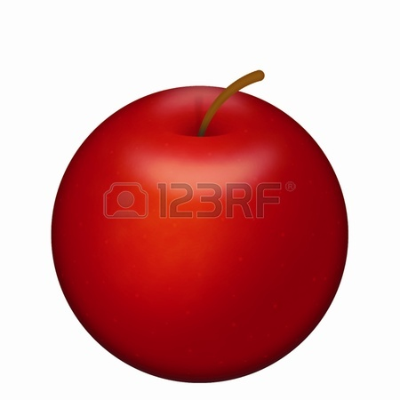 450x450 Illustration Of Detailed Big Shiny Red Apple Royalty Free Cliparts