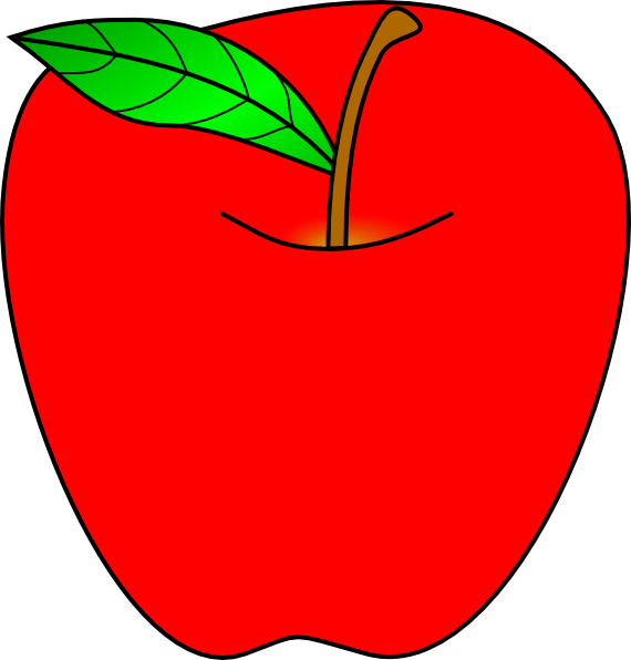 570x596 Red Apple Clipart