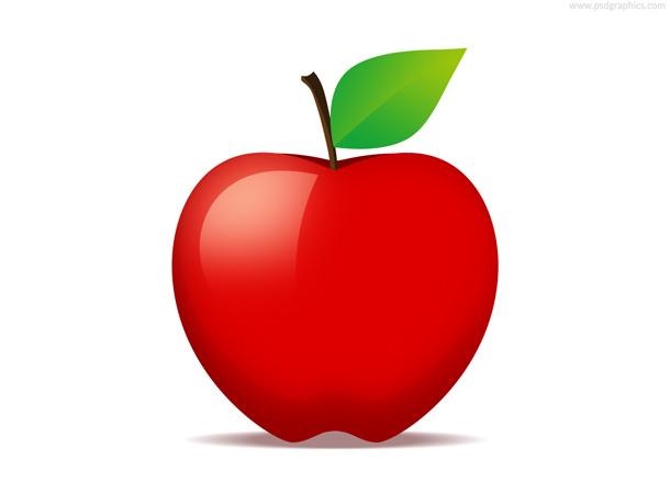 610x458 Red Apple Fruit Icon (Psd) Psdgraphics