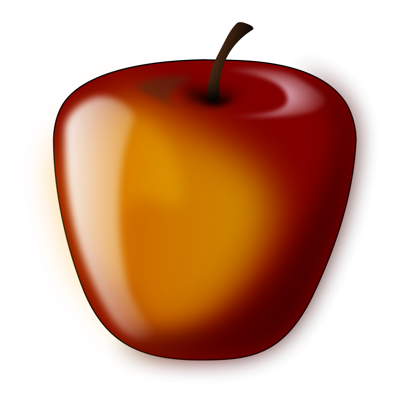 800x784 Red Shaded Apple Free Vector 4vector