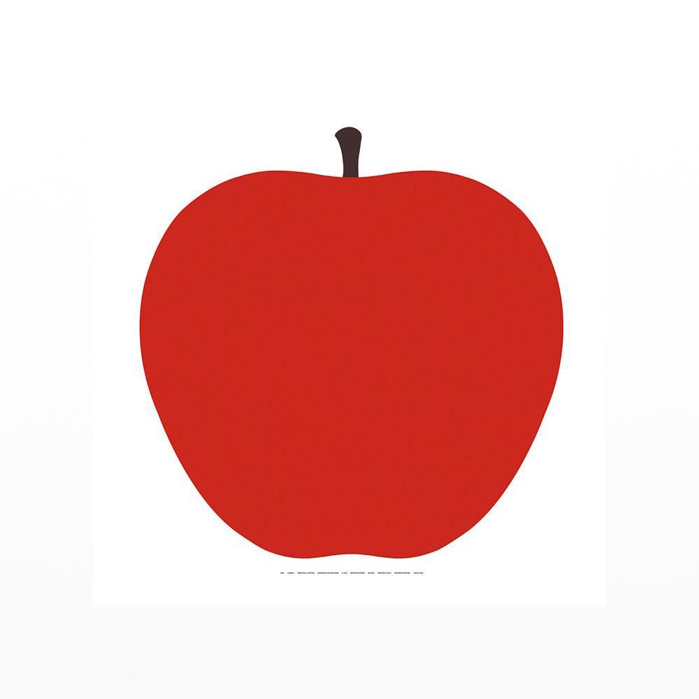 1000x1000 Uno La Mela Red Apple Screenprint Design Museum Shop