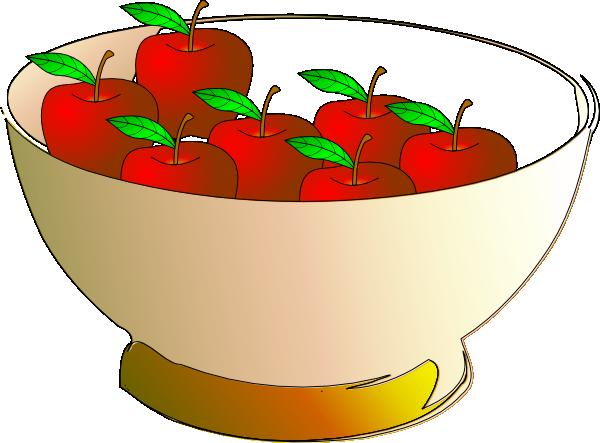 600x443 Bowl 7 Apples Clip Art