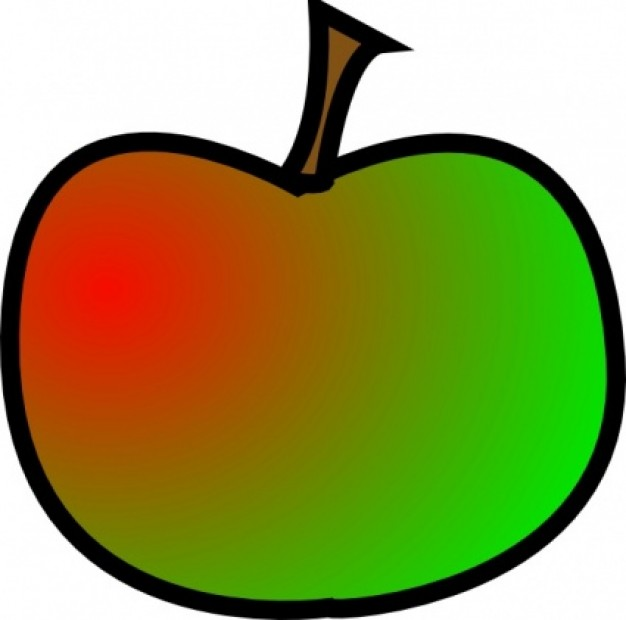 626x620 Cute Apple Clip Art Free Clipart Red Green