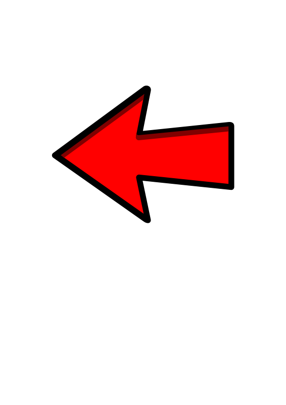 566x800 Free Clipart Red Arrow Left Pointing Symbolicm