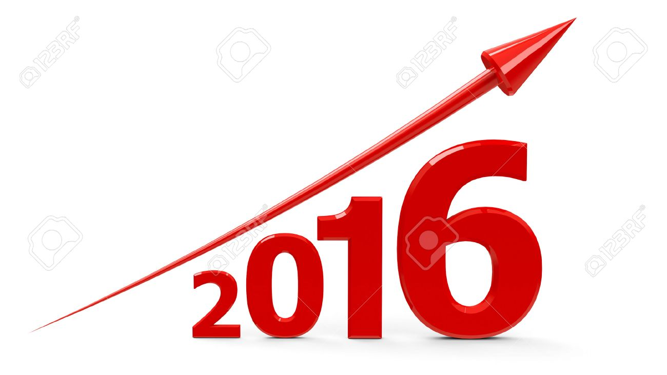 1300x731 Red Arrow Up Represents The Growth In 2016 Year, Three Dimensional