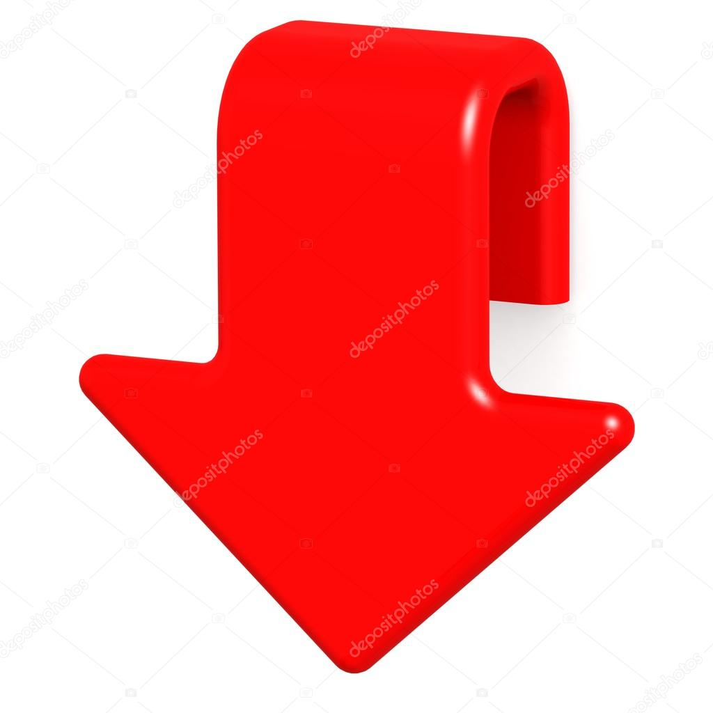 1024x1024 Red Arrow Down Stock Photo Tang90246